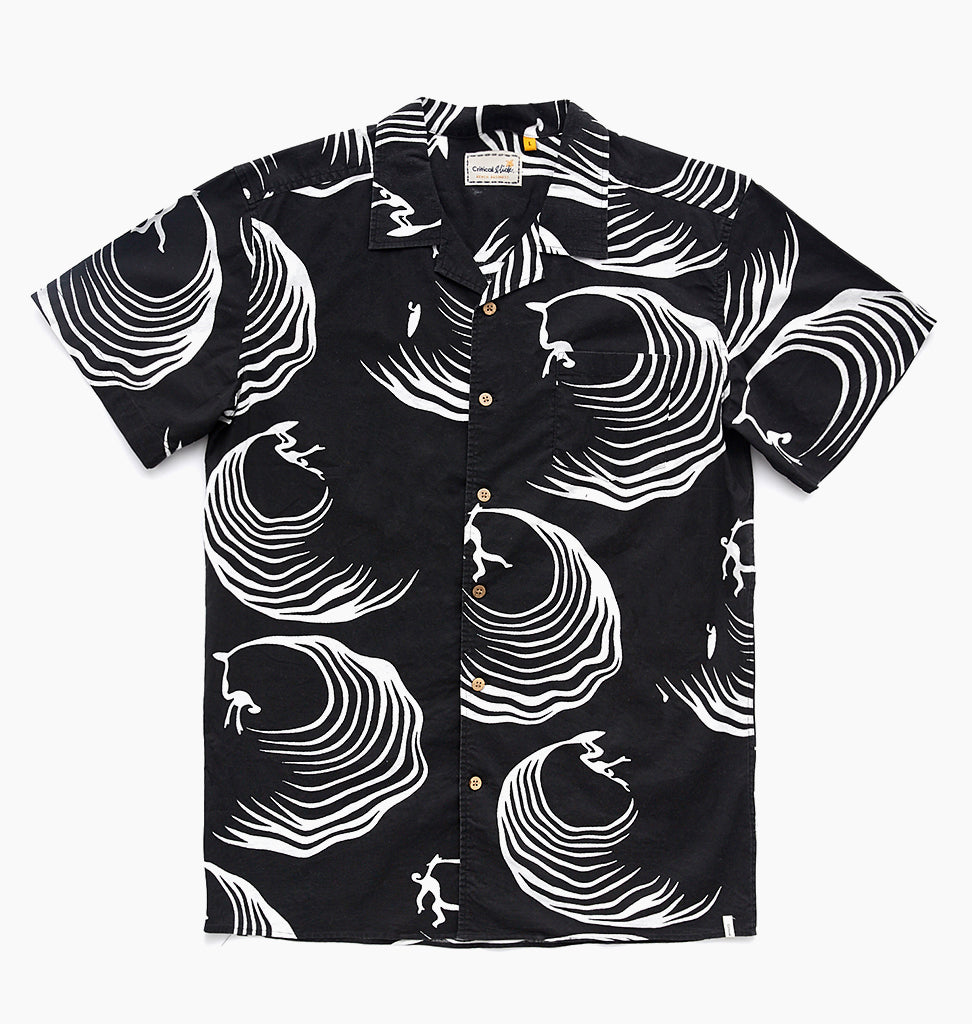JIMS WAVE GARDEN SHIRT - PHANTOM