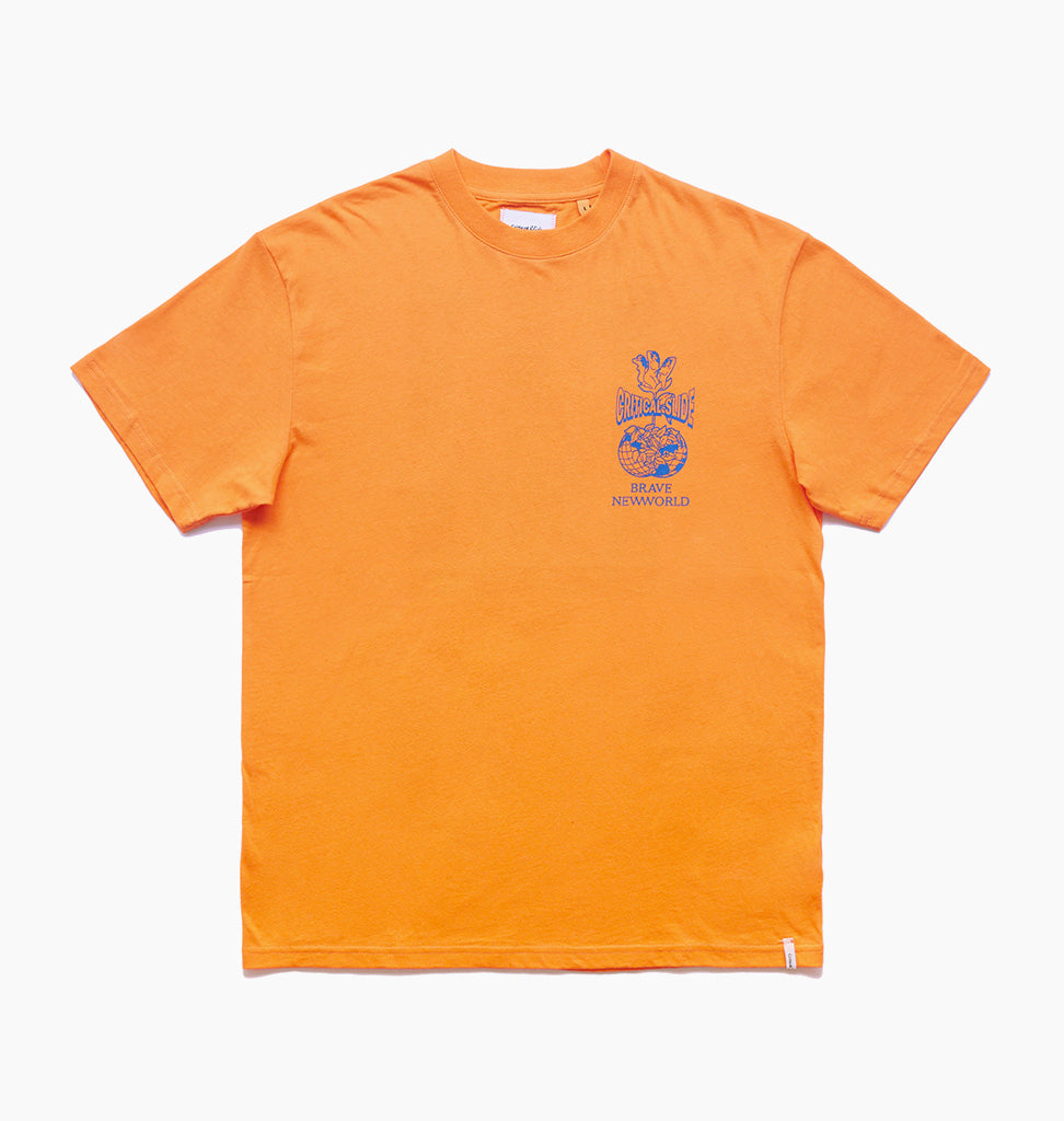 BRAVE NEW WORLD TEE - POPSICLE ORANGE