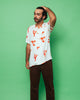 THE COSMO SHORT SLEEVE SHIRT - BLANC