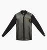 JUMBLED WETSUIT JACKET FRONT ZIP - BLACK