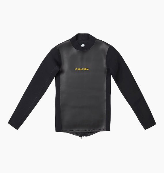 JUMBLED WETSUIT JACKET BACK ZIP - BLACK