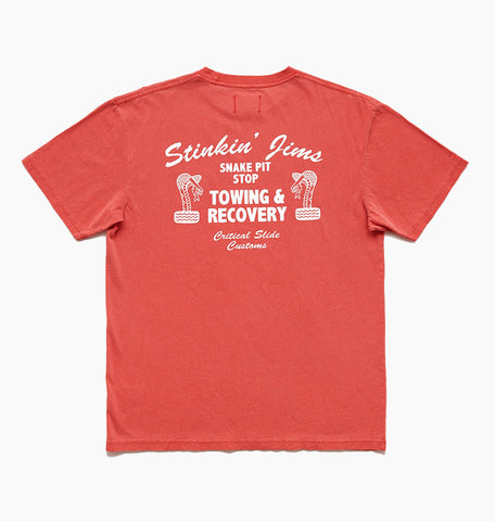 SNAKEPIT TEE - FIERY RED