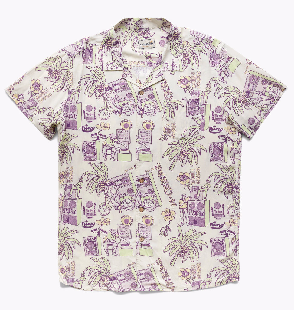 JAMMYS SHORT SLEEVE SHIRT - BLANC