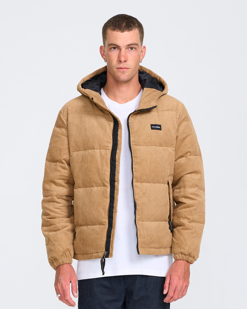 CORDUROY PUFFER DOWN JACKET - AMBER