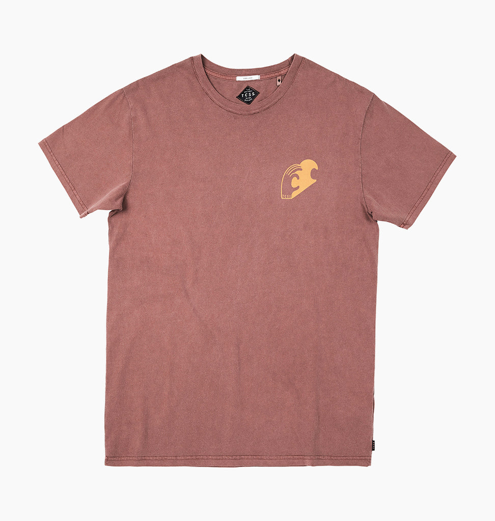 KNOW WAVE TEE - MARSALA