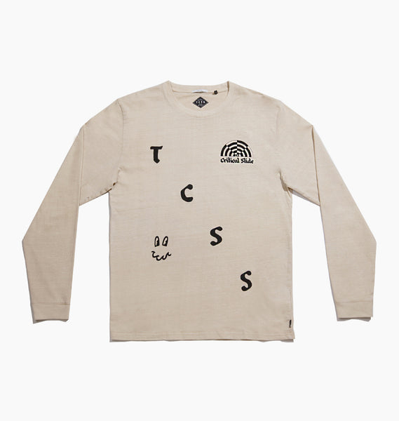 STATIC LS TEE - CUSTARD