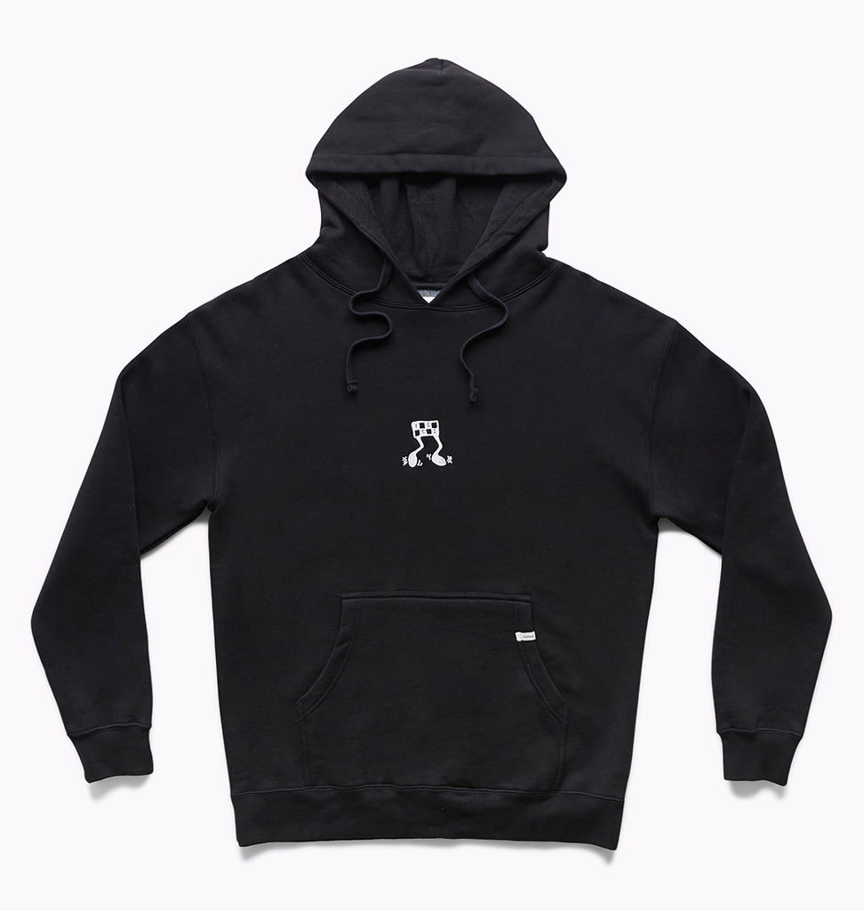 OWN RACE FLEECE HOODY - BLACK
