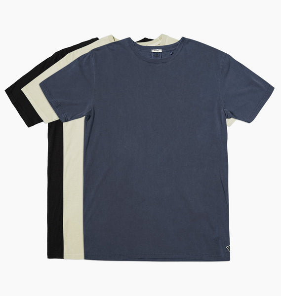 STAPLE TEE 3 PACK- ALMOND, BLUE STEEL, BLACK