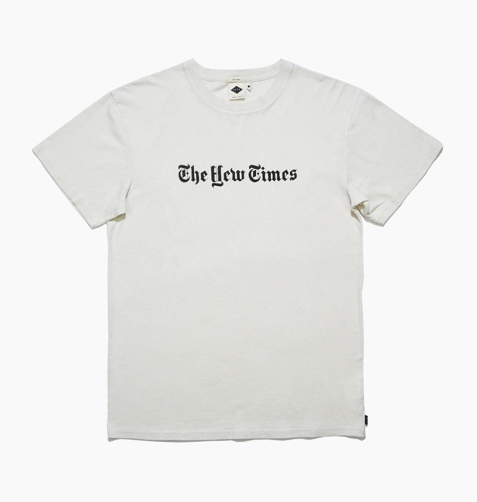THE YEW TIMES TEE - DIRTY WHITE