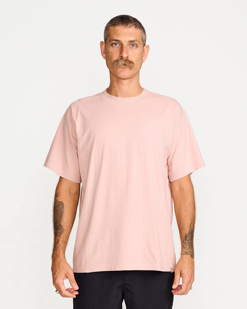 BAND TEE - DUSTY PINK