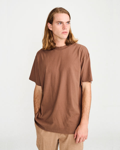 BAND TEE - BROWN
