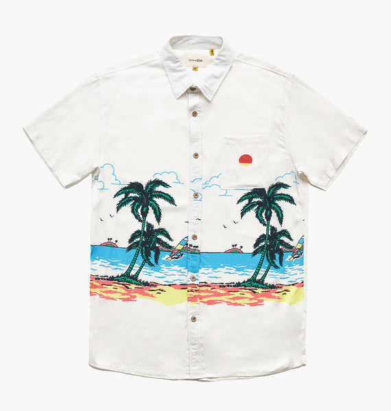 TRADE WINDS SS SHIRT - DIRTY WHITE