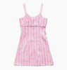 VACATION STRIPE DRESS - COTTON CANDY