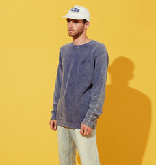 KNOW WAVE KNIT CREW - INK