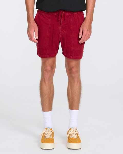 ALL DAY WALKSHORT-WASHED RED