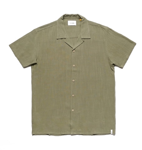 ERNIE LINEN SHIRT - FATIGUE