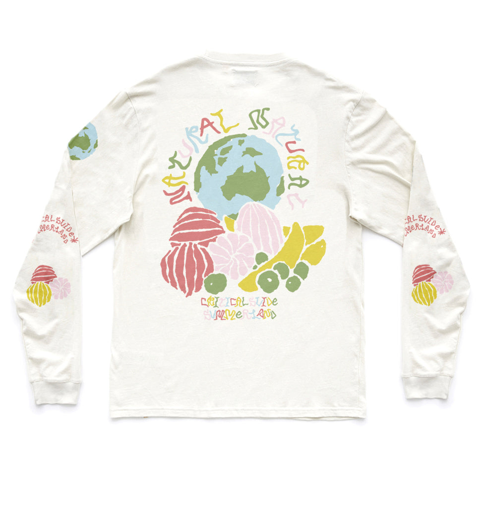 NATURAL LS TEE - DIRTY WHITE