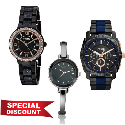 Combo of 3 set Dial Analog Watch for Women