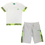 Neon Green Construction Zone Short Set