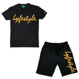 Gold Velvet Lyfestyle Short Sets