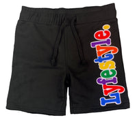 Kids Multicolor on White Lyfestyle Shorts