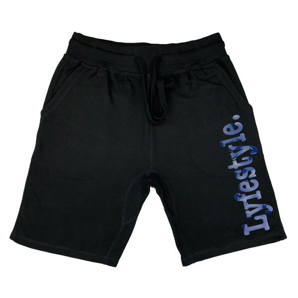 Blue Metallic Lyfestyle Shorts