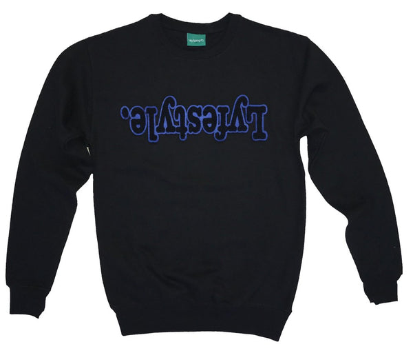 Black w/ Blue Lyfestyle Sweatshirt