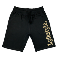 Gold Metallic Lyfestyle Shorts