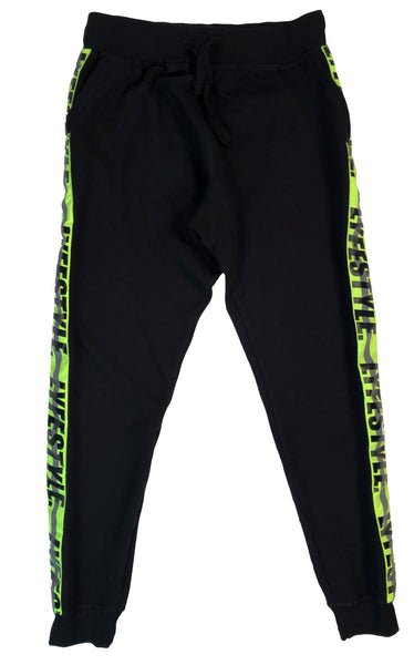 "Neon Green ""Construction Zone"" Sweatpants"