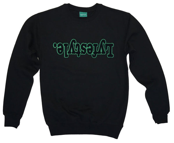Black w/ Green Lyfestyle Sweatshirt