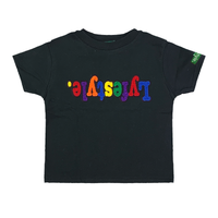 Toddlers Black Multicolor Lyfestyle Tee