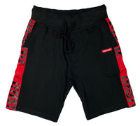 Black & Red Lyfestyle Tape Short