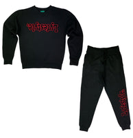Black w/ Red Lyfestyle Sweatsuit