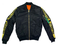 Black & Yellow Lyfestyle Tape MA-1 Bomber