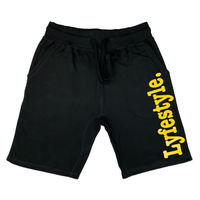 Yellow Metallic Lyfestyle Shorts