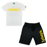 Yellow Metallic Lyfestyle Short Sets