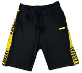 Black & Yellow Lyfestyle Tape Short