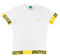Yellow & Black Lyfestyle Tape Tee