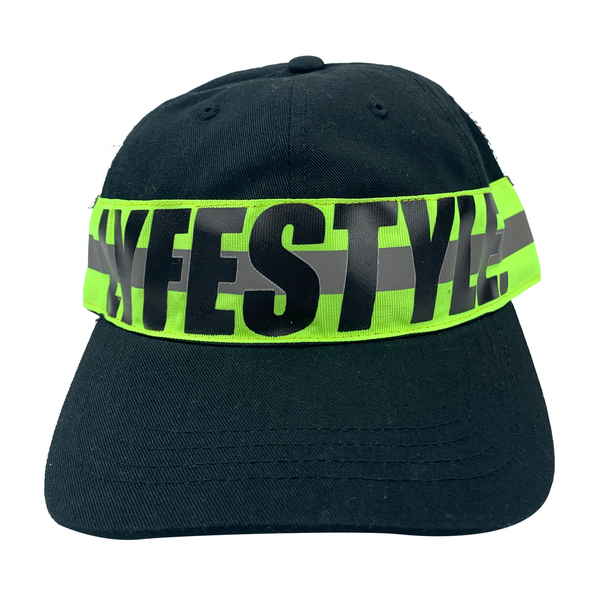 Neon Green Construction Zone Dad Hats
