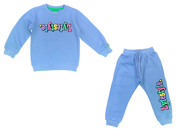 Toddlers Carolina Blue Pastel Lyfestyle Sweatsuit