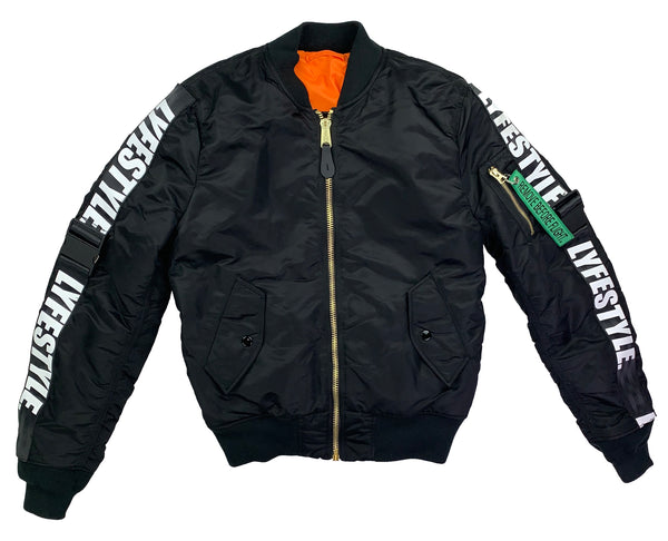 Black & White Lyfestyle Tape MA-1 Bomber