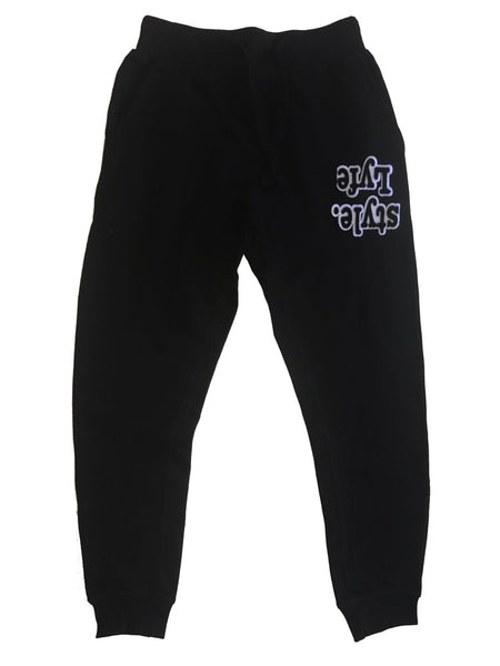 Black w/ White Lyfestyle Sweatpants