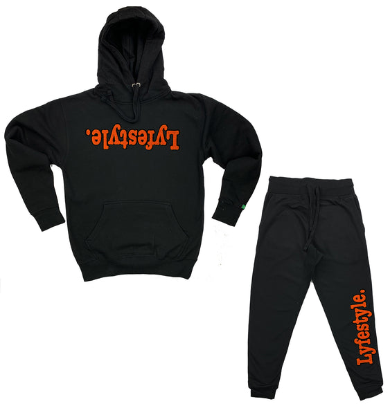 Orange w/ Black Lyfestyle Sweatsuit