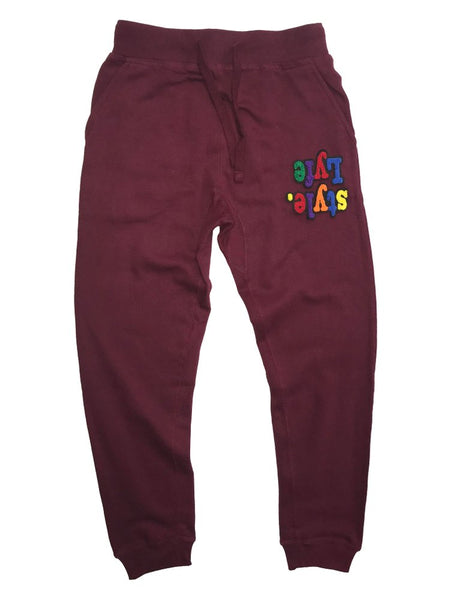 Burgundy Multicolor Lyfestyle Sweatpants