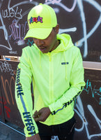 "Neon Green ""Construction Zone"" Windbreaker Jacket"