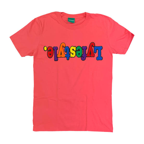 Coral Multicolor Lyfestyle Tee