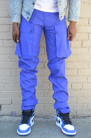 Royal Blue Nylon 10-PF Cargo Pants