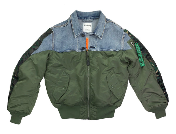 Denim MA-1 Bomber Jacket