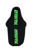 Back & Lime Green Lyfestyle Tape Dog Hoody