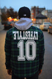 Green & Navy Plaid Lumber Jacket